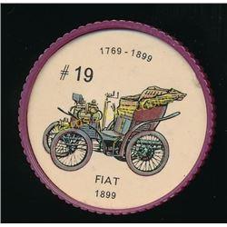 1960's Jello Coins Fiat 1899