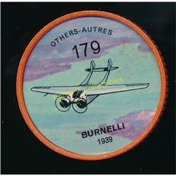 1960's Jello Coins Burnelli 1939