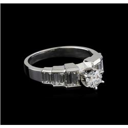 1.29 ctw Diamond Ring - 18KT White Gold