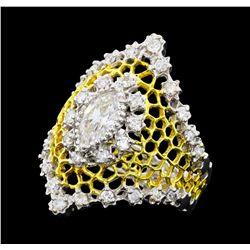 1.31 ctw Diamond Ring - 18KT White Gold