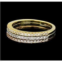 0.70 ctw Diamond Ring - 14KT Rose, White and Yellow Gold