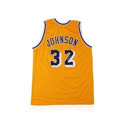 PSA Certified Magic Johnson Autographed Basketball Jersey