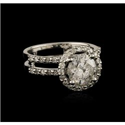 14KT White Gold 1.75 ctw Diamond Ring