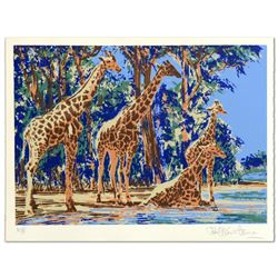 Giraffe Lake by Henrie (1932-1999)