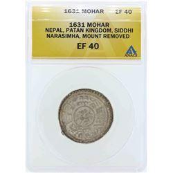 1631 Nepal Patan Kingdom Mohar Coin ANACS EF40