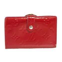 Louis Vuitton Red Vernis Monogram French Wallet