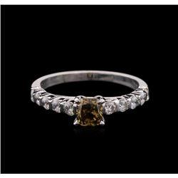 2.01 ctw Fancy Dark Brown Diamond Ring - 14KT White Gold