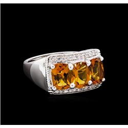 Crayola 2.40 ctw Citrine and White Sapphire Ring - .925 Silver