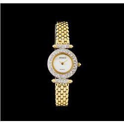 Geneve 14KT Gold 1.10 ctw Diamond Ladies Watch