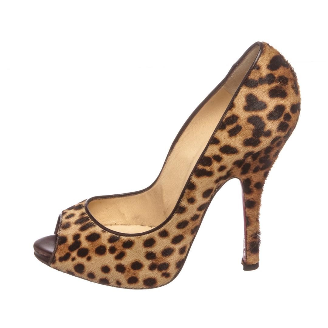 ccd1d5ed0d3 ... Image 4   Christian Louboutin Leopard Pony Hair Maryl 120 Pumps Heels  Shoes 37 ...