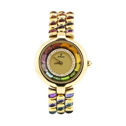 H. Stern 18KT Yellow Gold Lady's Custom Rainbow Gemstone Wristwatch