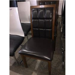 wood and leather dinning room chair sold each x 4