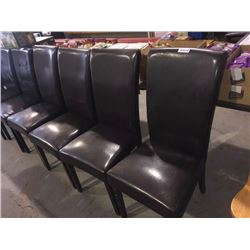 Lot of 4 Leather Style Chairs sold each x 4