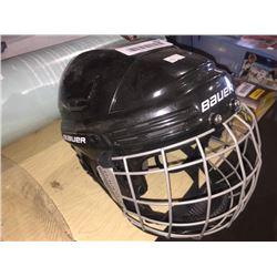 Bauer youth hockey helmet.