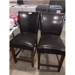 Lot 2 leather Stools sold each x 2