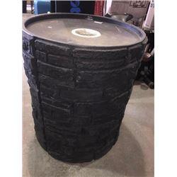 Blackwith stone finish rain barrel