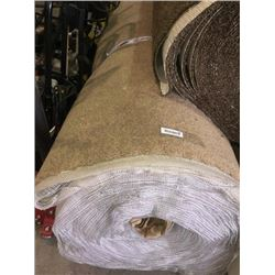 New Full Roll of Residential Carpet (sold by the square foot).Beige