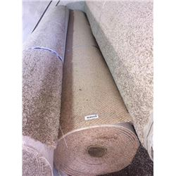 New Full Roll of Residential Carpet (sold by the square foot).Light Brown, Berber level loop