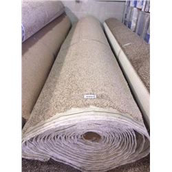 New Full Roll of Residential Carpet (sold by the square foot).Neutral Beige