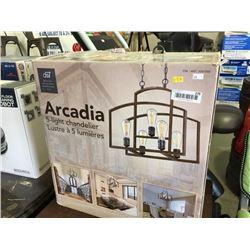 Arcadia 5 light chandeleir