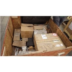 Crate Of Motors And Parts As Pictured. View Monday and Tuesday From 1:00 to 3:00 at 1502D Quebec Ave