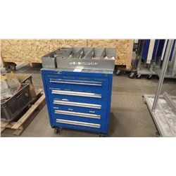 Heavey Duty 5 Drawer Work Cabinet on Wheels with all Tooling And Parts. View Monday and Tuesday From