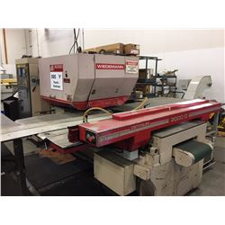 1990 Murata Wiedemann Centrum 2000 Q 22 Ton Punch With Turbo Conveyor and Roller Support Tables. Vie