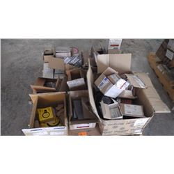 PALLET OF MISC ELECTRICAL & HYDRAULIC PARTS