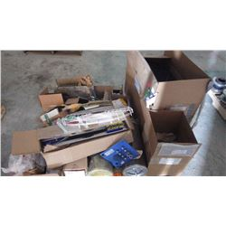 "PALLET OF MISC PARTS, FILTERS, FASTENERS, 2"" BALL VALVES AND SANDVIK PARTS, AIR BRAKEPOT, ETC"