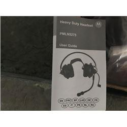 SET OF 2 MOTOROLLA H.D. NOISE REDUCTION HEAD SETS (NEW)
