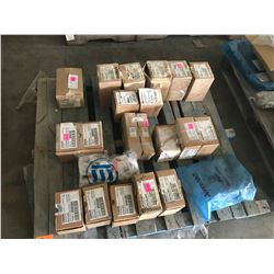 PALLET WITH SYLVANIA AND CUTLER HAMMER MAGNETIC BALLASTS INCLUDING M250-TRI-3X4 BALLASTS