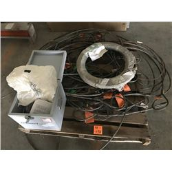 PALLET OF CABLE SLINGS AND FLO SERVE MECHANICAL SEAL