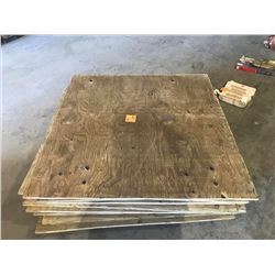 PALLET OF 3/4 INCH TREATED PLYWOOD AS PICTURED