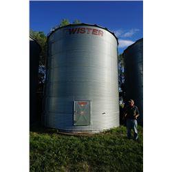 4800 BUSHEL TWISTER GRAIN BIN NO AIR ON CEMENT NO FLOOR. BINS ARE LOCATED IN RM OF MILDEN. TRAVEL WE