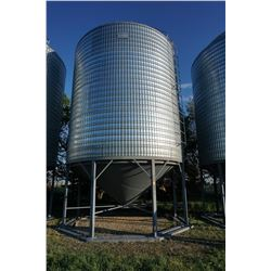 3300 BUSHEL GOEBEL HOPPER BOTTOM BINS WITH LADDERS, SKIDS, AND INSPECTION HOLES AND NO AIR. BINS ARE