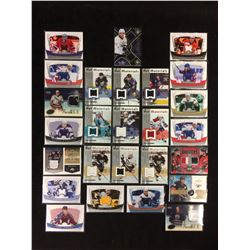 GAME WORN JERSEY HOCKEY CARD LOT