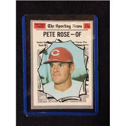 1970 TOPPS #458 PETE ROSE BB CARD~THE SPORTING NEWS NATIONAL LEAGUE ALL-STAR