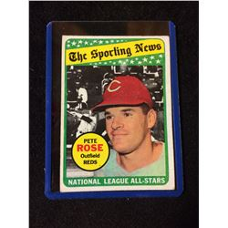 1969 Topps #424 Pete Rose All-Star The Sporting News Baseball Card