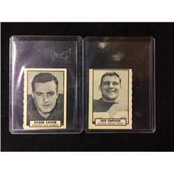 1962 TOPPS CFL FOOTBALL CARDS LOT (ROGER SAVOIE, BOB SIMPSON)