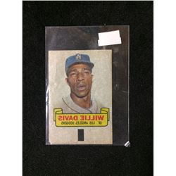 1966 TOPPS RUB-OFF CARD TATTOO TRANSFER STYLE WILLIE DAVIS