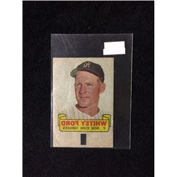 1966 TOPPS RUB-OFF CARD TATTOO TRANSFER STYLE WHITEY FORD