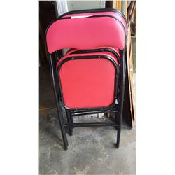 THREE FOLDING CHAIRS