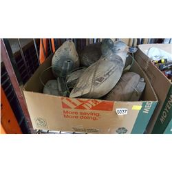 BOX OF DUCK DECOYS