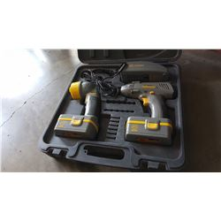 CASED IMPACT DRIVER AND FLASHLIGHT