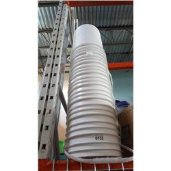 STACK OF 10 NEW WHITE BUCKETS FOOD GRADE