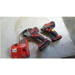 2 MILWAUKEE IMPACT WRENCHES CORDLESS WITH CHARGER TESTED AND WORKING