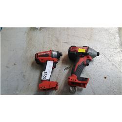 2 MILWAUKEE IMPACT WRENCHES CORDLESS TESTED AND WORKING