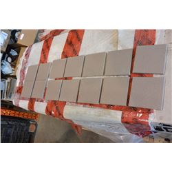 175 SQFT NEW MADE IN GERMANY GAIL GREY CERAMIC 4.5 X 4.5 INCH TILES, 30 BOXES, 5.5 SQFT PER BOX