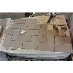 280 SQFT NEW MADE IN GERMANY GAIL GREY 4.5X9.5 INCH TILES, 6 SQFT PER BOX, 45 BOXES TOTAL