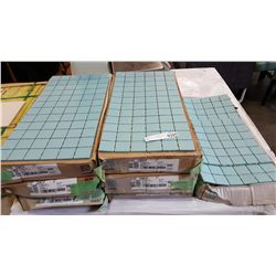 10 BOXES NEW AQUA GLOW CERAMIC MOSAIC TILE 12 INCH BY 24 INCH 12 PER BOX